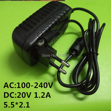 100PCS New 20v1.2a switching power supply LED lamp power supply 20 v power supply 20v 1.2A 1200mA power adapter  EU plug