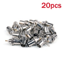 High Quality 20 PCS BNC Female Connectors Chassis Panel Mount Monitor Accessories