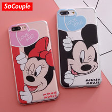 SoCouple Soft TPU Case for iphone 5s 5 SE 6 6s 6plus 7 7plus 8 8plus X Cartoon Mickey Mouse Minnie Dog Duck pattern Phone Case(China)
