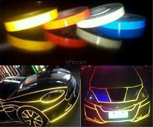 1CMX45M Car Styling 3M Reflective Safety Tape Car Warning Stickers Glow in Dark Marking Tape Night Luminous Material Z2CA048(China)