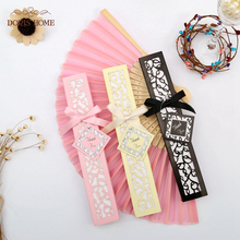 100PCS Satin Silk folding Hand Held Folding Bamboo Fans With Names for Summer Wedding Favor(China)