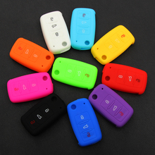 silicone car key cover case for Volkswagen VW polo passat b5 golf4 5 6 jetta tiguan Golf CrossFox Plus Eos Scirocco Beetle(China)