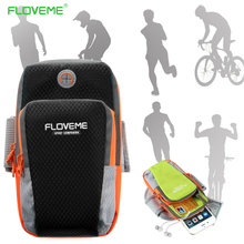 FLOVEME Sport Armband Hand Bag Case For iPhone 7 6 Cloth Gym Running Pouch Arm Band For iPhone 7 7s Plus Mobile Phone Holder Bag(China)
