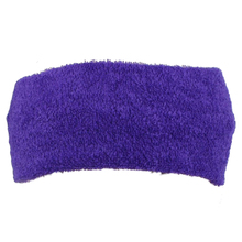 Purple Gym Sports Terry Sweatband Elastic Head Band Headband(China)