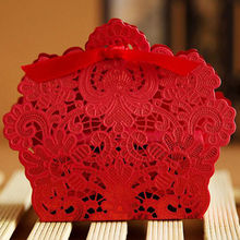 25pcs Lace Laser Cut Cake Candy Gift Boxes with Ribbon Wedding Favor Boxes
