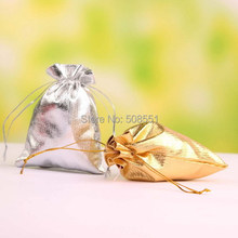 12PCS Drawstring Organza Voile Jewelry Favour Wedding Candy Gift Pouch Bags 7X9cm