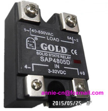 New and original  SAP4805D GOLD Solid state relay   SSR relay   5A  40-530VAC , 3-32VDC