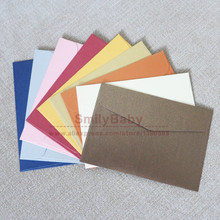 100pcs 10*7cm small Colorful Paper Envelope Membership cards Bank Card cover(China)