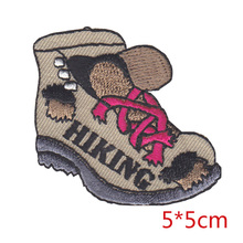 HIKING BOOT hiker otudoors sports iron-on patch embroidered customized applique for jackets,clothing