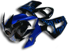 Motorcycle Fairing kit for KAWASAKI Ninja ZX6R 03 04 ZX6R 636 2003 2004 TOP blue flames black ABS Fairings set +7 gifts SQ71(China)