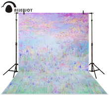 Allenjoy Photography backdrops background bokeh purple lavender flowers forest garden kids girl spring baby shower newborn Photo