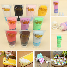50g Fake Whipped Cream Clay DIY Kawaii Cupcake Cell Phone Case Decoration With 2Pcs Tips 23 Styles