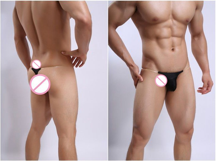 2017 Invisible tape mens thong bags men's gay underwear sexy male ultra-low-waisted Jockstrap ding pants tight G-Strings Thongs