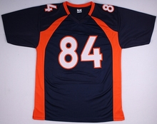 Embroidered Logo Shannon Sharpe orange white blue throwback high school FOOTBALL JERSEY for fans gift cheap 1211-9(China)
