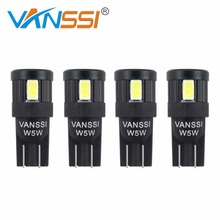 4x T10 LED W5W LED 194 168 2825 501 6-SMD LED Bulb For Car Interior Dome Reading Luggage Box Light Lamp White Blue Amber Red