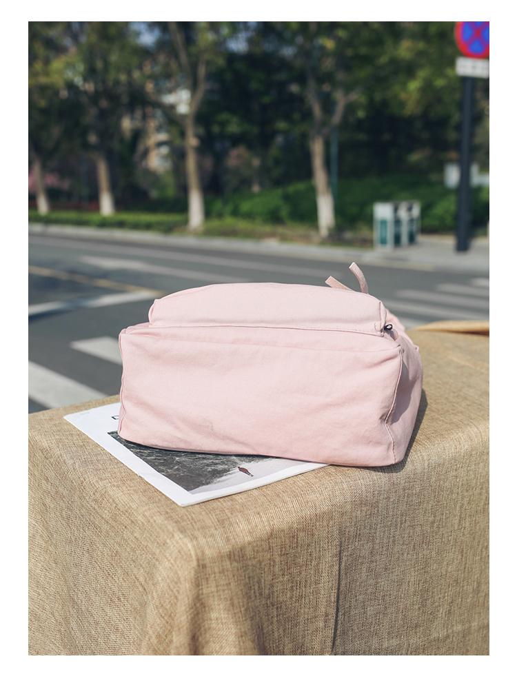 Menghuo High Quality Women Canvas Backpack Teenage Girls Leisure Backpack Bag Vintage Stylish Female School Bag Bookbag Mochilas (23)
