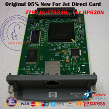 Original 95% New JetDirect Card For HP 620 HP 620N  HP620N J7934A J7934G Ethernet Internal Print Server Network Card