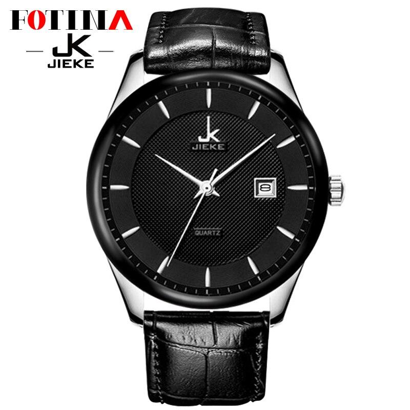 Luxury Brand JK Black Watch Men Leather Wristwatches Quartz Sport Business Men Watches Reloj Hombre Clock Male Relogio Masculino<br><br>Aliexpress