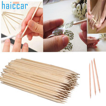 Beauty Girl 100Pcs Nail Art Orange Wood Stick Cuticle Pusher Remover Pedicure Manicure Tool Aug 24