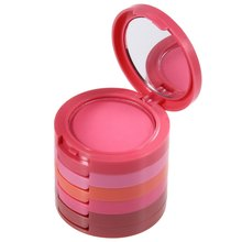 Poly Cost Professional Waterproof 5 Colors Red Blusher Palette With Beauty Blush Makeup Cosmetic Cream Made1