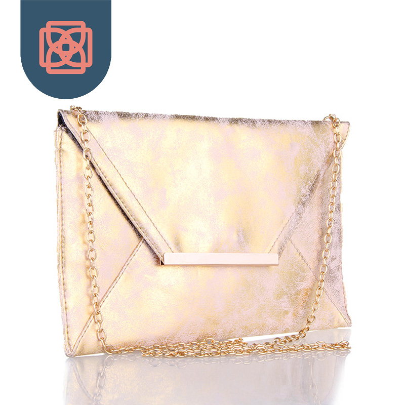 Rose Gold Foil Envelope Purse Distressed Faux Leather PU Matte Pink Purse 18K Gold Color Chain Club Clutch Handbag Shoulder Bag<br><br>Aliexpress