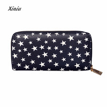 Women Fashon Wallet Cute Five-pointed star Eyes Printing Zipper Coin Purse Long Wallet Card Holders Handbag Brand Long Wallet(China)