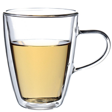 Big Promotion!! Durable 350mL Clear Handmade Heat Resistant Double Wall Glass Tea Coffee Drink Mug Cup Perfect Craft Gift