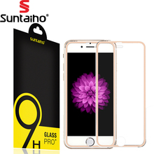 Buy Suntaiho 3D Aluminum alloy Tempered glass iphone 7 9H Hardness Full Screen protector protective film iphone 7 Glass for $2.51 in AliExpress store