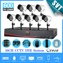 Safety Guard 16CH Network DVR 1000gb hard disk Outdoor IR Camera CCTV Video surveillance System Kit support HDMI 3G WIFI SNV-53