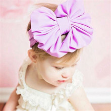 High Quality Kid Stretch Bowknot Hairband Beautiful Elegant Headband Knot Head Wrap Hot sale Hair Accesorios