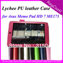 "For Asus memo pad HD 7 ME173 high quality pu leather stand case,7""  tablet Cool PU Leather cover,7 color"