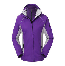 High Quality OEM Export Brand 3in1 Outdoor Women's Coat Jacket Windproof Waterproof Hiking Camping Ski Jacket(China)