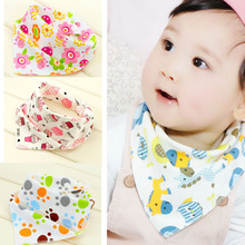 Baby 100% Organic Cotton Double Sides Design Absorbent Bandana Drool Bib Various Styles Cute Baby Bibs KXBBK001(China)