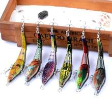 Fulljion 6pcs/lot 3 Sections VIB Fishing Lures Painting Series Wobblers Crankbaits Artificial Hard Baits Pesca(China)