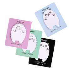 3PCS Cute Kawaii Animal 90 Pages Sheep Memo Pads Panda Memo Pads Sticky Notes Scrapbooking Sticker Office Supplies