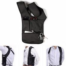 Portable Men's Travel Holder Anti-Theft Safety Hidden Underarm Holster Shoulder Phone Bag Case Agent package(China)