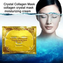 80pcs/lot Gold Bio-Collagen Facial Mask Face Mask Crystal Gold Powder Collagen Facial Masks Moisturizing beauty products