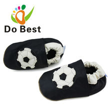 Brand Football Sheepskin Leather Soft Baby Kids Toddler Shoes Moccasins For Boys First Walker New 2017 Autumn Fashion free ship(China)