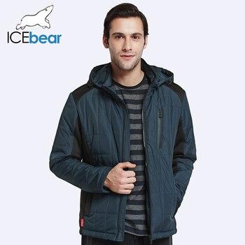 ICEbear 2017 Осень Куртка Мужчины Новый Мужской Классический Мода Повседневная  Хлопок-Заполнение Ветровки Для Мужчин 17MC213D