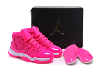 Free shipping JORDAN Basketball Shoes High-Top Women pink red white Basketball Shoes Jordan For women 11(China)