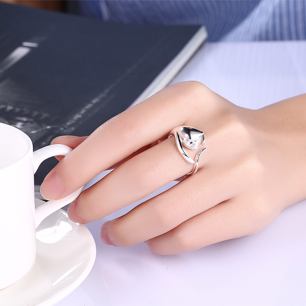 2018 925 Pure Silver Plated Animal Ring Hippie Vintage Anel Punk ...
