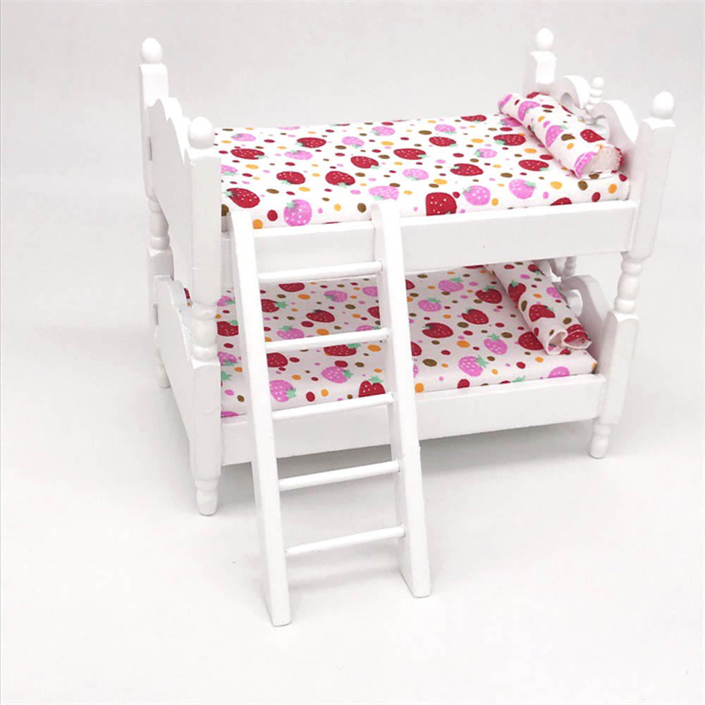 MagiDeal 1//12 Dollhouse Furniture Bedroom Bed Cabinet Rocking Chair Set 5pcs