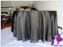 Free Shipping 108'' Black Tablecloth For Banquet Event