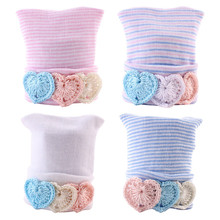 Cute Hot Selling Soft Baby Newborn Toddler Infant Unisex Heart Knit Warm Beanie Hospital Hat Cap Cool Baby Woolen Cap