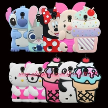 Fashion 3D Silicon Unicorn Cat Cupcake Minnie Piglet Bunny Soft Cell Phone Cover Case for Samsung Galaxy S4 i9500 9500(China)