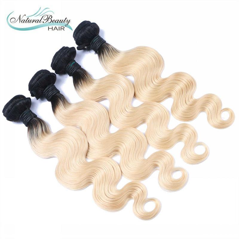 Dark root ombre blonde body wave hair weaving weft extension women ombre blond hair weave virgin human hair extension<br><br>Aliexpress