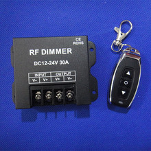 New DC12-24V 30A LED Dimmer RF Dimmer Controller with 3Key Wirelss RF Remote Controller for Single Color LED Strip light