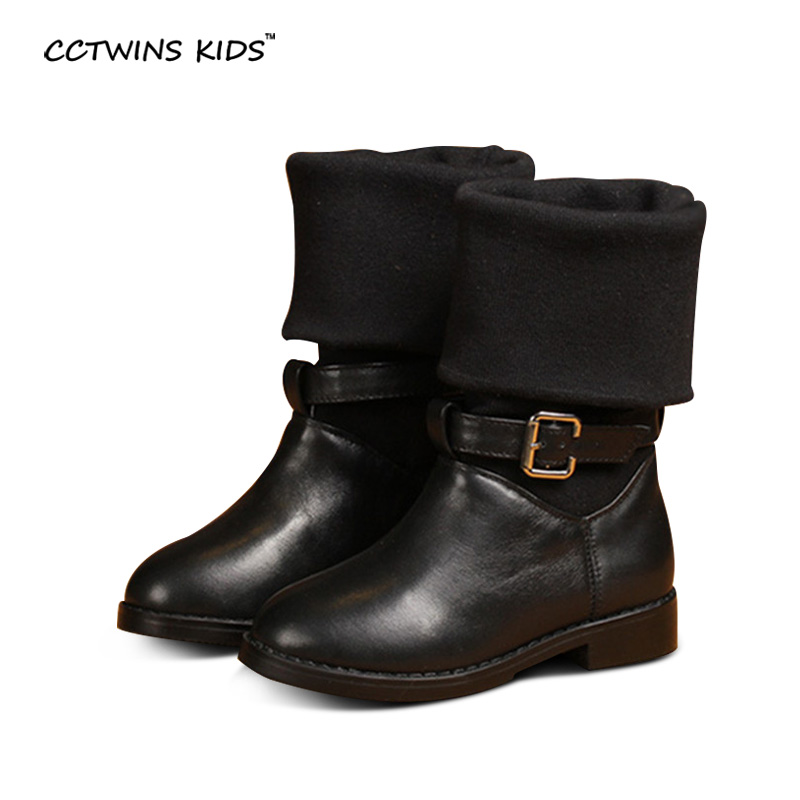 CCTWINS KIDS autumn fashion boots children genuine leather shoes for baby girls brand knee high boots toddler long boots black<br><br>Aliexpress