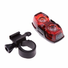 2 LED Bright Bike Tail Light Rear Lamp Bicycle Cycling Flash Light Torch Safety Kits Bicycle Back Rear Light with Clip Mount set