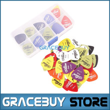60 pcs Matte Guitar Picks With Box Combo Alice Bass Puas Palhetas Guitarrapicks With Plectrums Case Holder Musical Instrument(China)